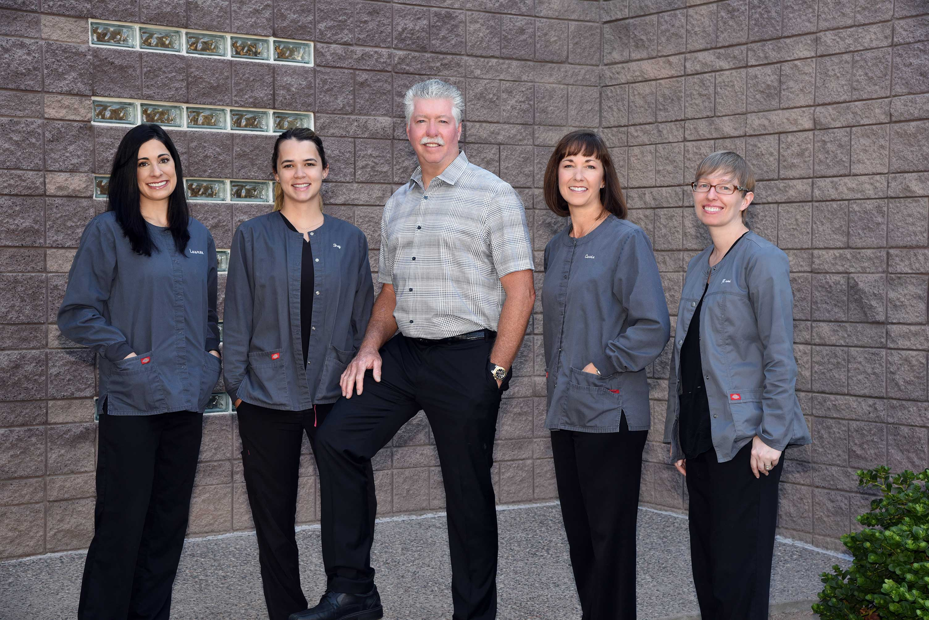 Dr. Schneider and dental staff